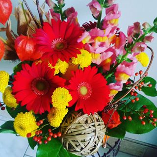autumn flower arrangment1